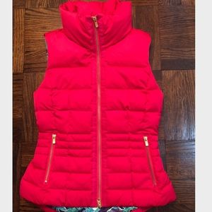 Lilly Pulitzer Pink Down Vest - S